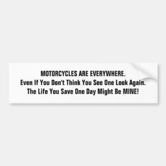 Motorcycle series car bumper sticker