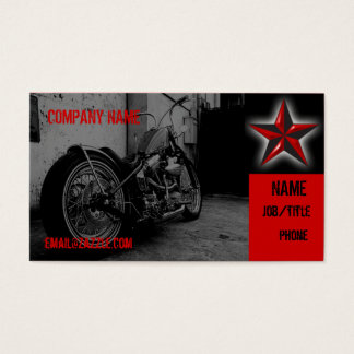 Motorcycle Shop Business Card