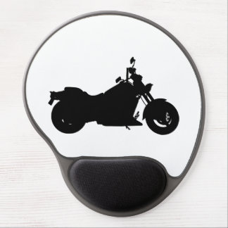 Motorcycle Silhouette Gel Mouse Pad