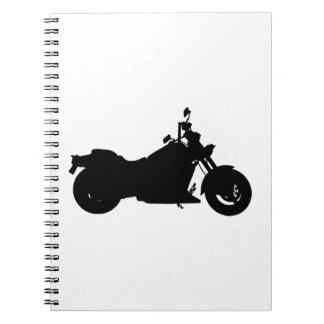 Motorcycle Silhouette Notebook