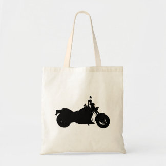 Motorcycle Silhouette Tote Bag