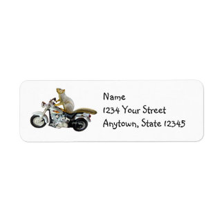 Motorcycle Squirrel Return Address Labels