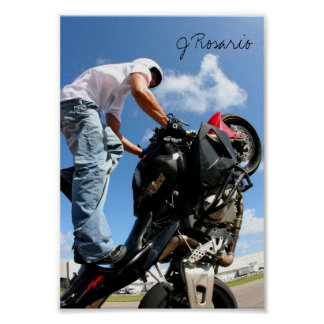 Motorcycle Stunt Poster