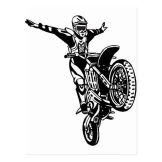 Motorcycle Stunts Postcard