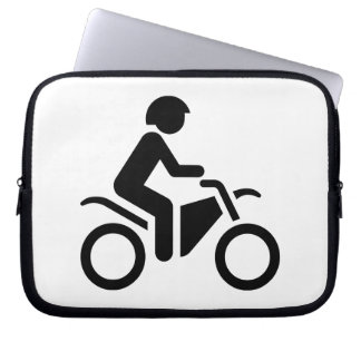 Motorcycle Symbol Laptop Computer Sleeves