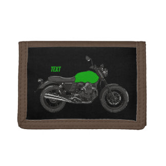 Motorcycle Trifold Wallet