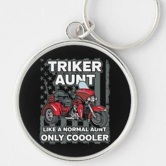 Motorcycle Triker Aunt Key Ring