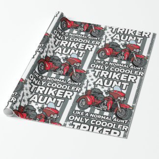 Motorcycle Triker Aunt Wrapping Paper