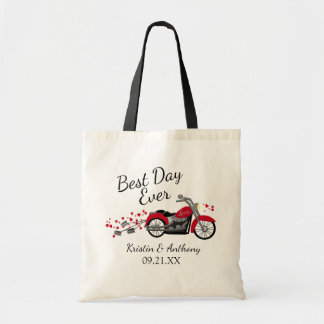 Motorcycle Wedding Best Day Ever Tote Bag