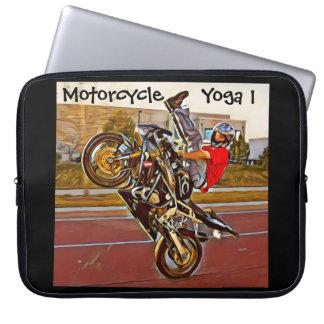 Motorcycle Yoga 1 Laptop Sleeve