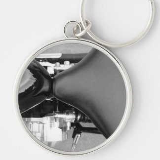 Motorcycles Motorcycle Parts Seat Fuel Tank Photo Silver-Colored Round Key Ring
