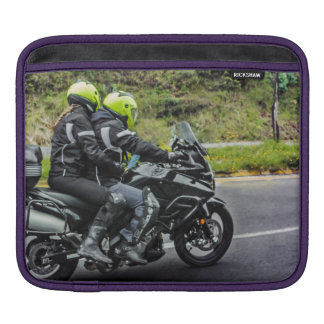 Motorcycles Riders at Avenue iPad Sleeve