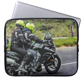 Motorcycles Riders at Avenue Laptop Sleeve