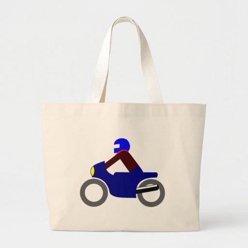 Motorcyclist more biker motorcyclist canvas bag