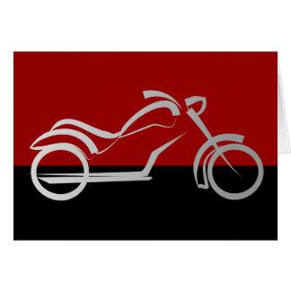 motorcyle motorbike bike biker card