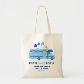 Motorhome RV Camper Travel | Add Family Name Tote Bag