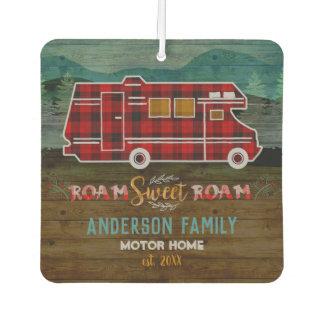 Motorhome RV Camper Travel Van Rustic Personalized Car Air Freshener
