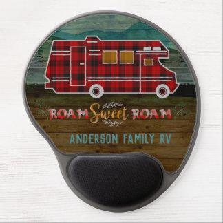 Motorhome RV Camper Travel Van Rustic Personalized Gel Mouse Pad