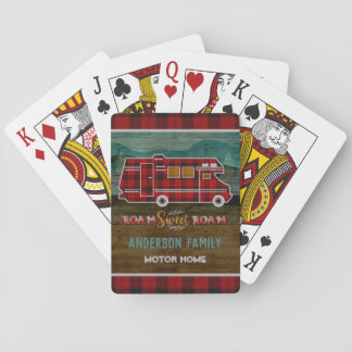 Motorhome RV Camper Travel Van Rustic Personalized Playing Cards