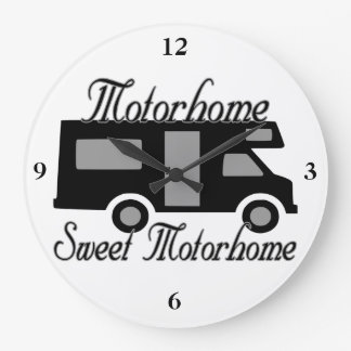 Motorhome Sweet Motorhome RV Large Clock