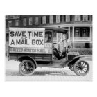 Motorised Mail Wagon by the U.S. Post Office Dept. Postcard