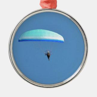 Motorised Paraglider Metal Ornament
