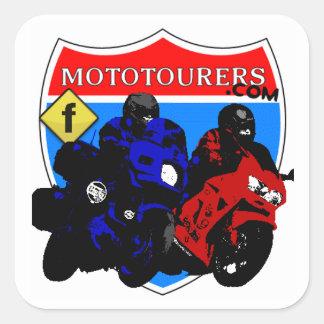 MotoTourers com FB Square Stickers