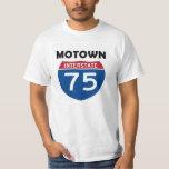 Motown I-75 Road Sign Detroit Michigan Tee Shirts