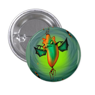 MOTT ALIEN MONSTER CARTOON Round Button Small