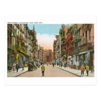 Mott Street, CHINATOWN, New York City (Vintage) Postcard