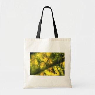 Mottled greenish yellow canvas bag