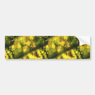Mottled greenish yellow bumper stickers