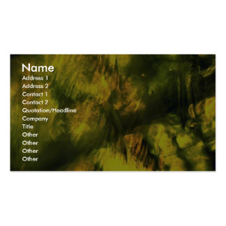 Mottled greenish yellow pack of standard business cards