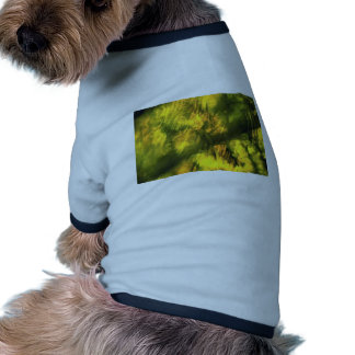 Mottled greenish yellow pet clothing