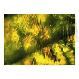 Mottled greenish yellow greeting card