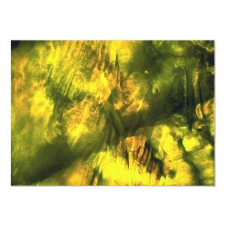 Mottled greenish yellow 13 cm x 18 cm invitation card