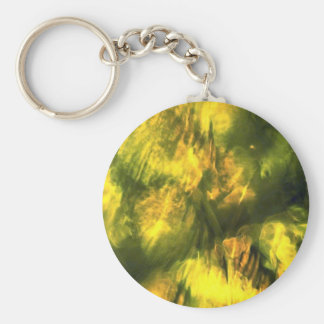Mottled greenish yellow key chains