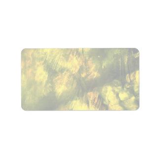 Mottled greenish yellow address label