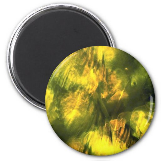 Mottled greenish yellow refrigerator magnet