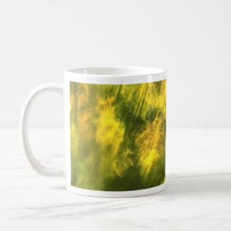 Mottled greenish yellow coffee mug