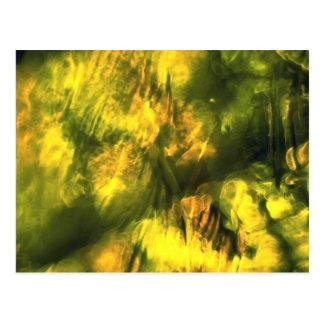 Mottled greenish yellow postcard