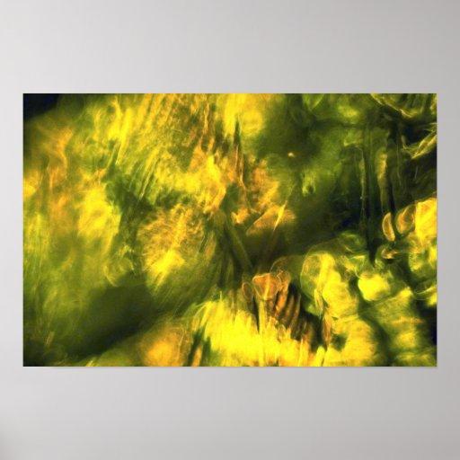 Mottled greenish yellow print