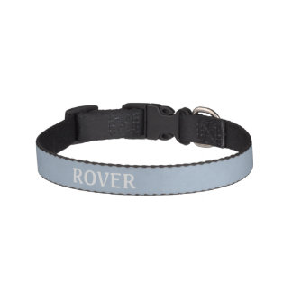 * Mottled Light Steel Blue Pet Collar