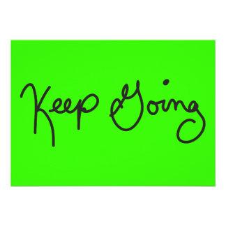 MOTTOS KEEP GOING MOTIVATIONAL ADVICE ENCOURAGEMEN CUSTOM ANNOUNCEMENT