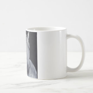 Mould portrait on black velvet mugs