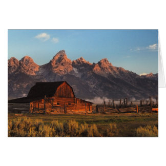 Moultan Barn Tetons Card