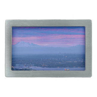 Mount Baker and Vancouver BC at Dawn Canada Belt Buckles