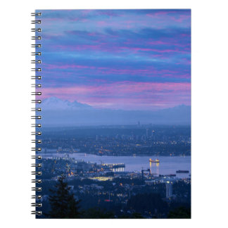 Mount Baker and Vancouver BC at Dawn Canada Notebooks