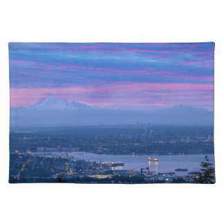 Mount Baker and Vancouver BC at Dawn Canada Placemat
