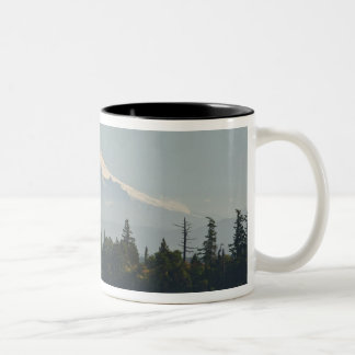 Mount Baker dominates landscape Two-Tone Coffee Mug